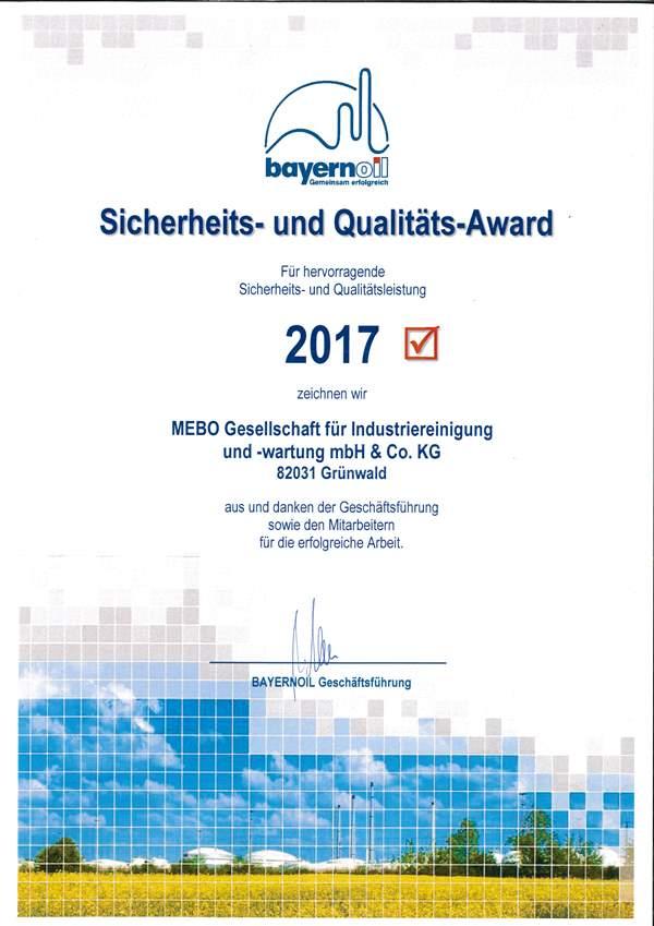 Sicherheits- und Qualitäts-Award